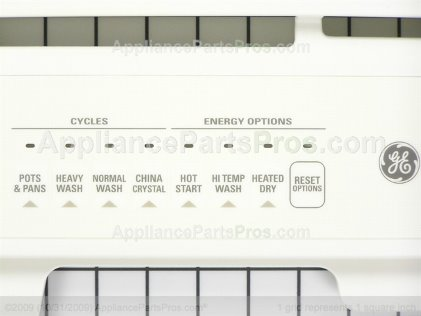GE Panel Control & Insert WD34X10931 from AppliancePartsPros.com