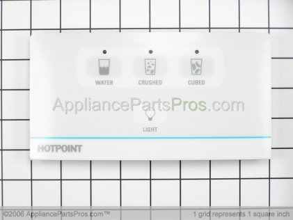 GE Recs Dsply 4BTN Wh Ht WR55X10446 from AppliancePartsPros.com