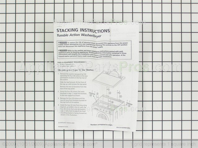 samsung stacking kit instructions
