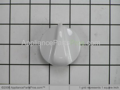 GE Top Burner Knob (white) WB03K10034 from AppliancePartsPros.com