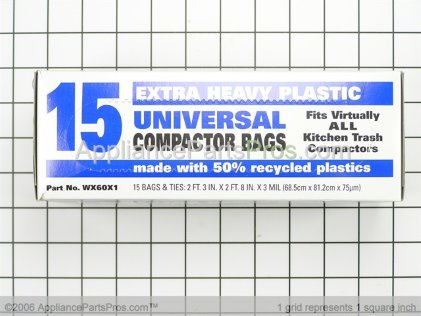 GE Trash Compactor Bags WX60X1 from AppliancePartsPros.com