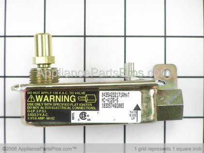 GE Valve Safety Single WB19K10006 from AppliancePartsPros.com