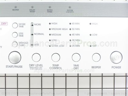 LG Panel Assm.,control 3721EL0005A from AppliancePartsPros.com