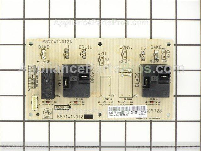 Lg 6871w1n012b Pwb Pcb Assembly Sub Appliancepartspros Com
