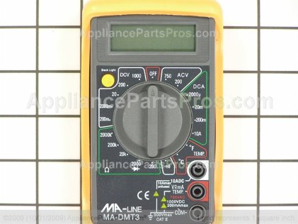 Pro Digital Multi-Meter W/te TJMA-DMT3 from AppliancePartsPros.com