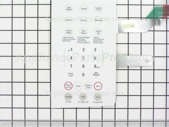 Samsung De34 00304l Switch Membrane Smh8165w