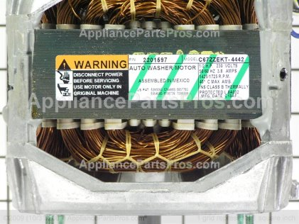 Whirlpool 1 Speed Exp Mtr & Ju 12002352 from AppliancePartsPros.com