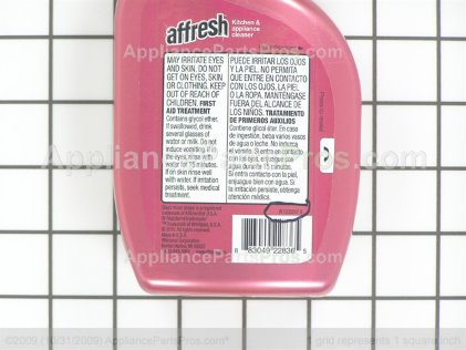 Whirlpool Affresh Kitchen and Appliance Cleaner W10355010 from AppliancePartsPros.com