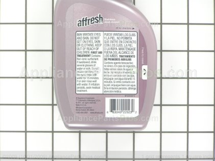 Whirlpool Affresh Stainless Steel Cleaner W10355016 from AppliancePartsPros.com