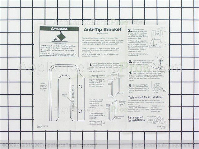 whirlpool anchor tip w10838686 ap5988775_04_l whirlpool w10838686 anti tip bracket appliancepartspros com  at mifinder.co