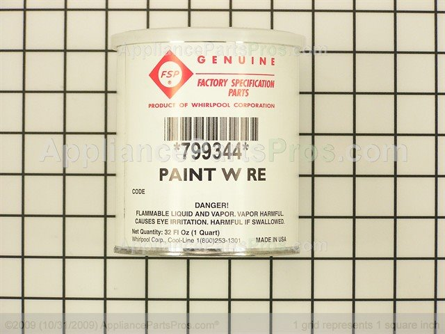 Whirlpool 799344 Appliance Touch Up Paint AppliancePartsProscom