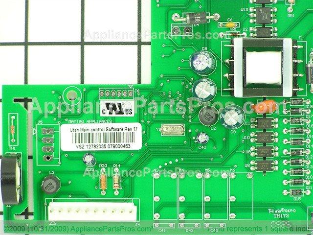 Whirlpool Wp12782036sp Electronic Control Board