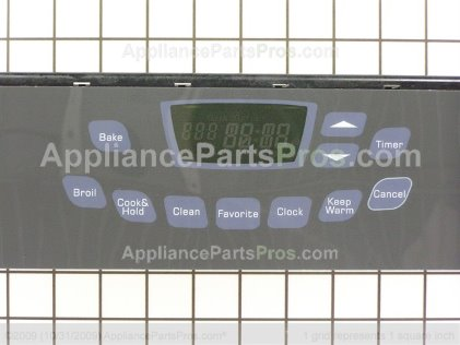 Whirlpool Clock/overlay (blk) 74009226 from AppliancePartsPros.com