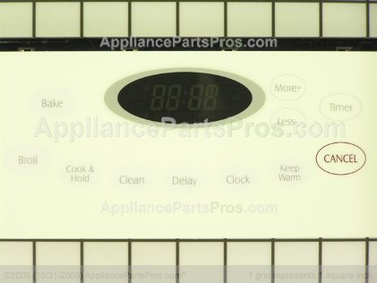 Whirlpool Clock/overlay (bsq) 74009153 from AppliancePartsPros.com