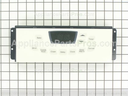 Whirlpool Clock/overlay (bsq) 74009215 from AppliancePartsPros.com