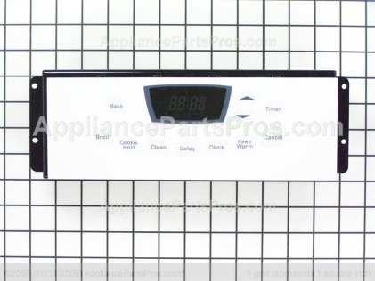 Whirlpool Clock/overlay (wht) 74009214 from AppliancePartsPros.com