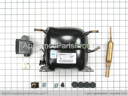 Whirlpool Compressor R134A 110V 575 Btu 12001697 from AppliancePartsPros.com