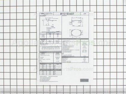 Whirlpool Compressor W10160407 from AppliancePartsPros.com