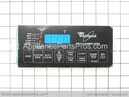 Whirlpool Control, Range (black) 6610322 from AppliancePartsPros.com