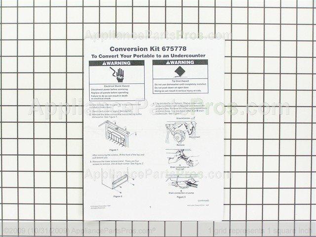 Whirlpool 675778 Conversion Kit White