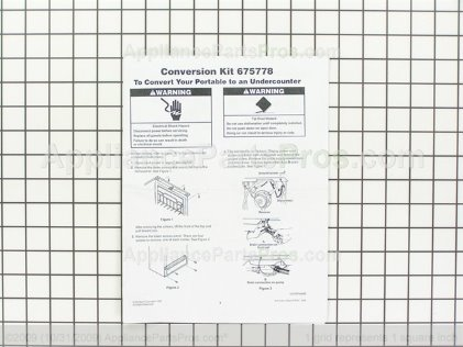 Whirlpool Conversion Kit, White 675778 from AppliancePartsPros.com