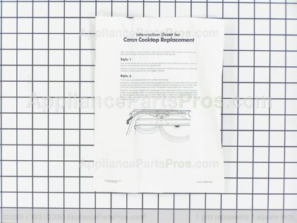 Whirlpool Cooktop 8187903 from AppliancePartsPros.com