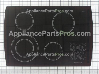 Whirlpool Cooktop, Glass (black) 8285313 from AppliancePartsPros.com