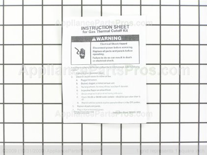 Whirlpool Cutoff-Tml W10480709 from AppliancePartsPros.com