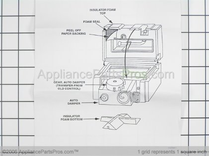 Whirlpool Damper/install Kit 61002092 from AppliancePartsPros.com