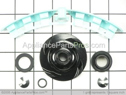Whirlpool Dishwasher Drain Impeller and Motor Shaft Seal Kit (KD18, KD19, KD20) 4162139 from AppliancePartsPros.com