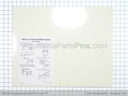 Whirlpool Door Panel, Front (almond/black Models) 3369516 from AppliancePartsPros.com