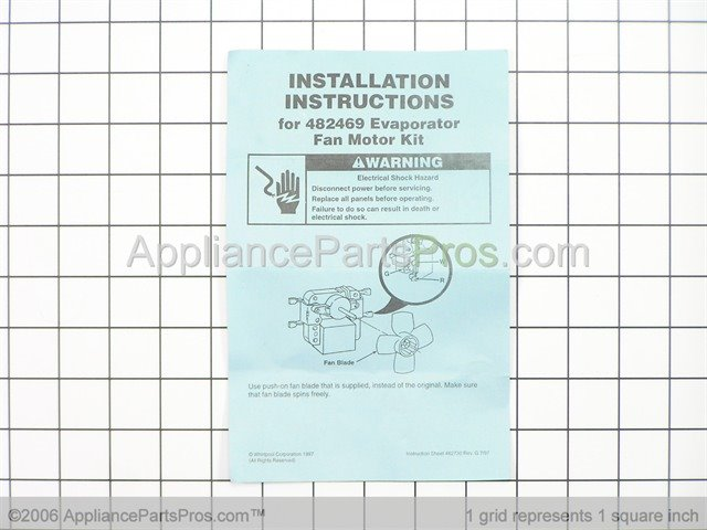 Whirlpool 482469 evaporator fan motor kit for How to test refrigerator evaporator fan motor