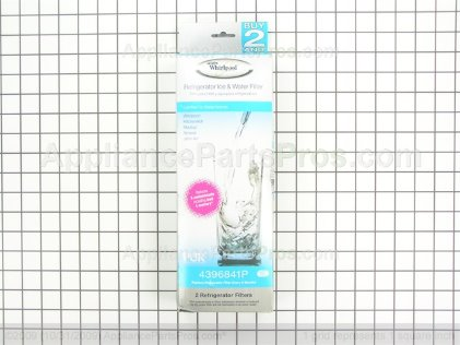 Whirlpool Refrigerator Water Filter 2 Pack 4396841P from AppliancePartsPros.com