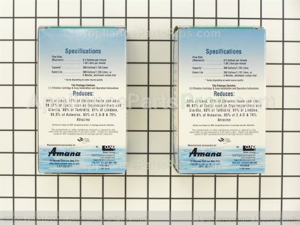 Whirlpool Refrigerator Water Filter 2 Pack WF401P from AppliancePartsPros.com