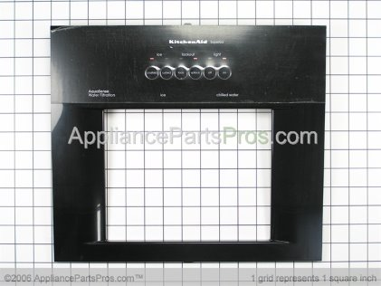 Whirlpool Front Cover Assembly (black) 2220986B from AppliancePartsPros.com