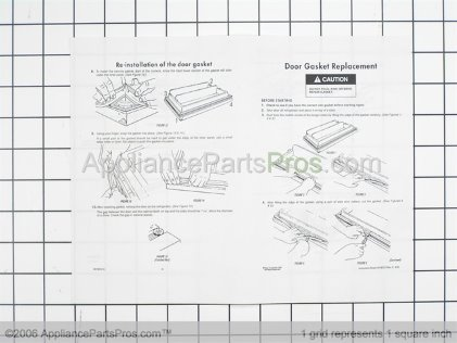 Whirlpool Gasket, Door Fzr Beige 2159327 from AppliancePartsPros.com
