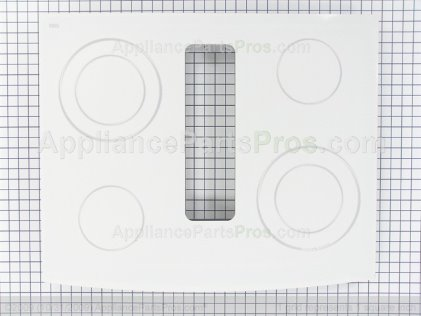 Whirlpool Glass Top Asy (wht) 74011794 from AppliancePartsPros.com