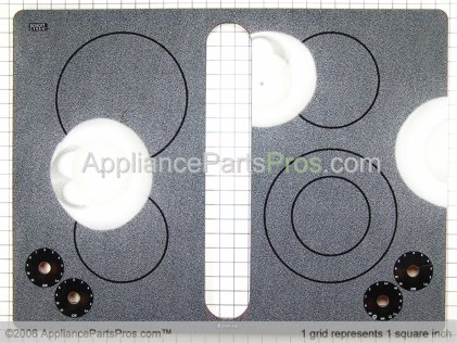 Whirlpool Glass, Top (wht) 74007085 from AppliancePartsPros.com