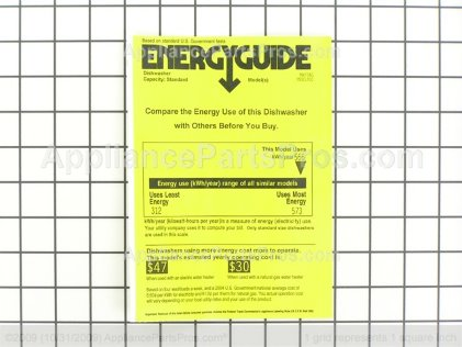 Whirlpool Guide, Energy 99002974 from AppliancePartsPros.com