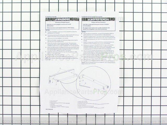 Whirlpool W10708004 Handle Appliancepartspros Com