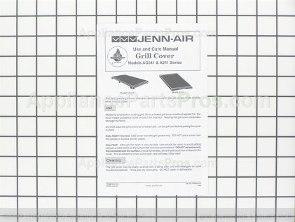 Whirlpool Jenn-Air Gas Grill Cover Accessory AG341B from AppliancePartsPros.com