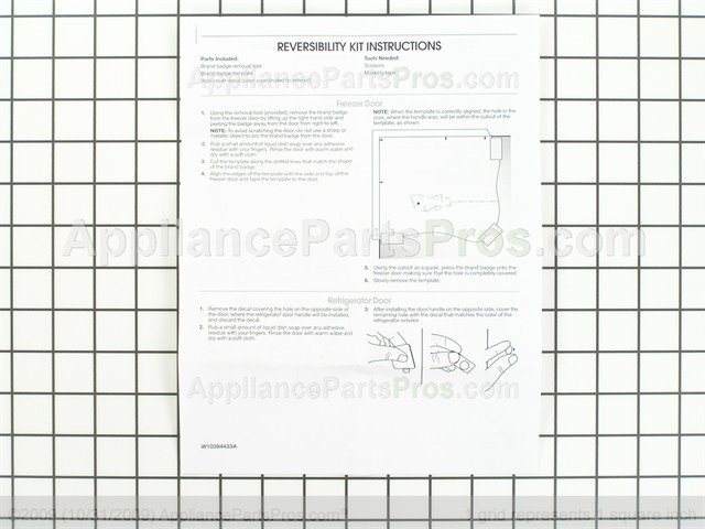 whirlpool kit door w10395148 ap5272189_06_l whirlpool w10395148 kit door appliancepartspros com  at mifinder.co