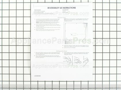 Whirlpool Kit-Door W10395148 from AppliancePartsPros.com