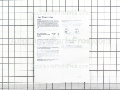 Whirlpool Kit, Lp Conversion 12002441 from AppliancePartsPros.com