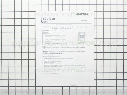Whirlpool Kit, Sxs Warm F.f. Temperature 12001904 from AppliancePartsPros.com