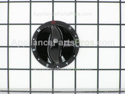 Whirlpool Knob (blk) 74005706 from AppliancePartsPros.com