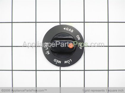 Whirlpool Knob, Gas Valve (blk) Y0042656 from AppliancePartsPros.com