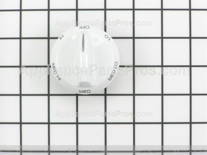 Whirlpool Knob, Infinite (wht) 74008232 from AppliancePartsPros.com