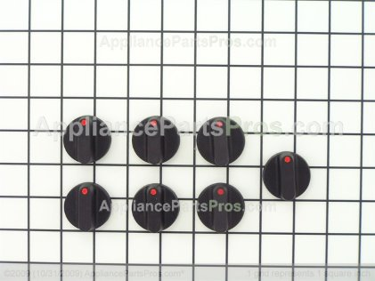 Whirlpool Knob Kit (7 Pcs.) 12500072 from AppliancePartsPros.com
