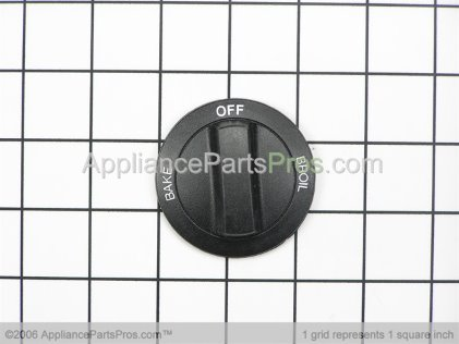 Whirlpool Knob, Oven Selector (black) 3183109 from AppliancePartsPros.com